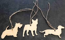 Christmas Hanger dogs Scottish Terrier, Bulldog or Dachshund