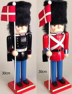 Nutcracker Danish guards flag
