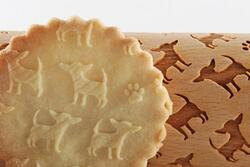 CHIHUAHUA - MINI embossed, engraved rolling pin for cookies