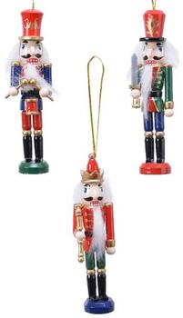 nutcracker christmas hanger red, green or blue