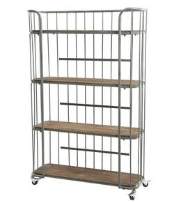 iron rack with wheels