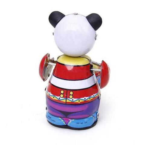 Panda Drummer Clockwork Mechanical Tin Toys