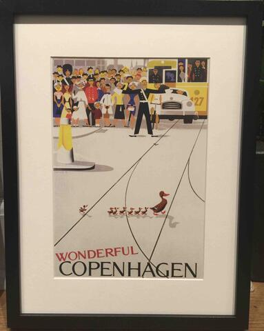 Wonderful Copenhagen Poster with frame