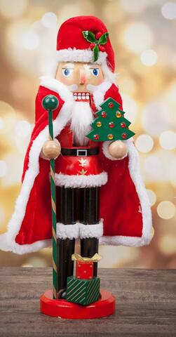 Nutcracker Santa Claus with Christmas tree