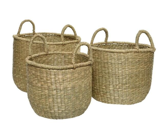 sea grass basket søgræs