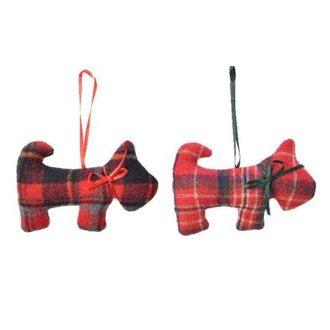 Christmas hanger dog Terrier
