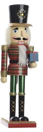 Nutcracker Soldier glitter with gift Big XL