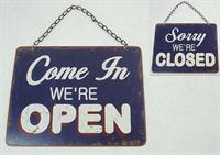 Emaljeskilt Come in We´re open / sorry we´re closed