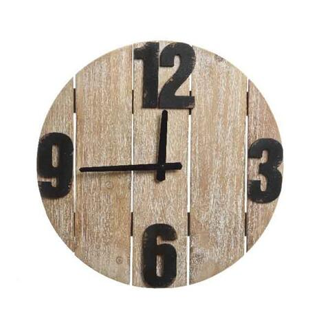 wall clock mdc wood