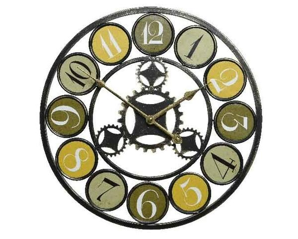 iron clock w green numbers