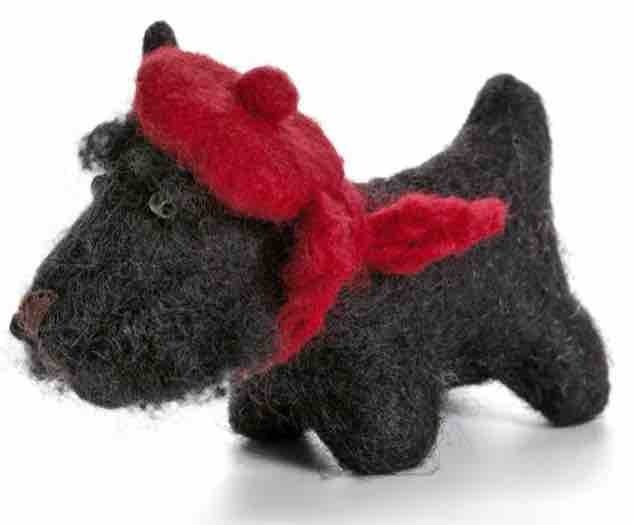 Christmas hanger Scottish terrier felt scottie dog
