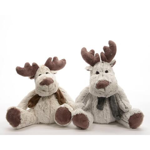 plush reindeer with scarf