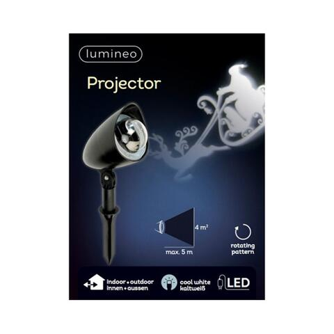 Projector Santa with sled outdoor  rotation effect LED