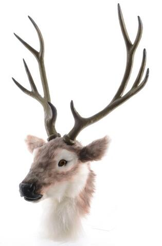 Deer head plush with plc antlers