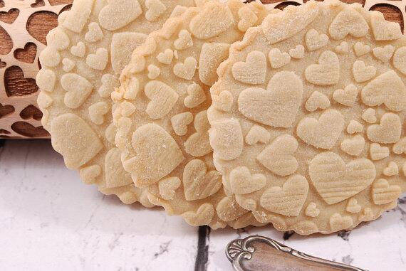 Rolling pin Hearts
