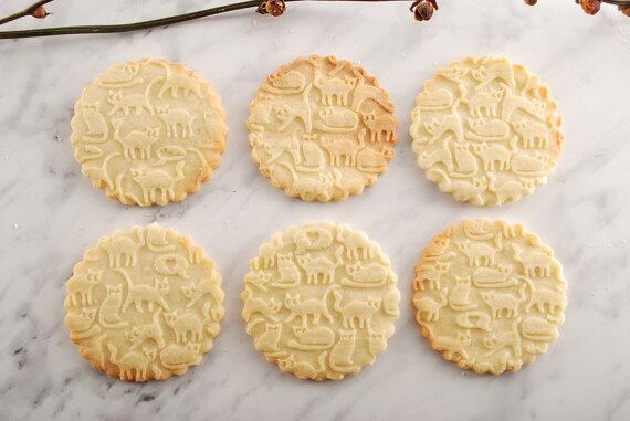 Rolling pin Funny Cats cookies