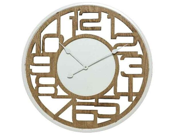 Wallclock  MDF clock cut out numbers