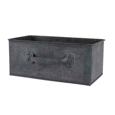 zinc planter with handle