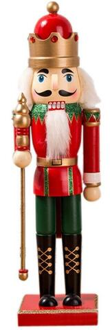 Nutcracker with crown red/green