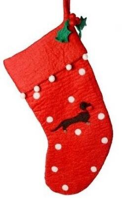 Dachshund Motif Stocking