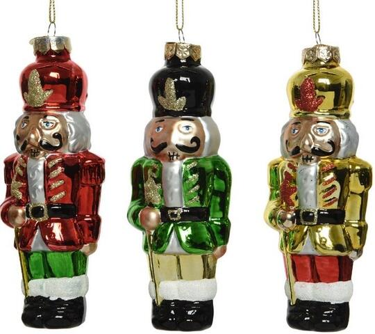 nutcracker christmas hanger glass