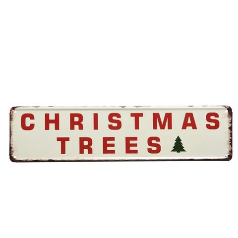 iron sign Christmas trees