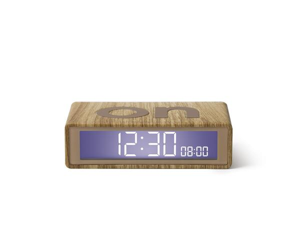 "Flip travl alarm clock small ""wood"""