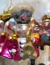 mouse with music instrument christmas ornament