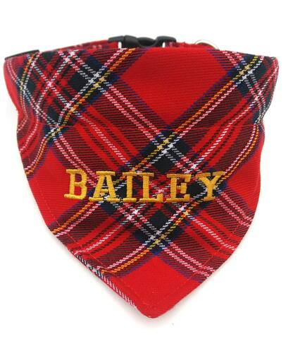 Dog collar bandana red