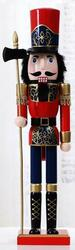 Nutcracker soldier  XL red/blue