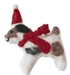 Christmas hanger Jack Russell in Hat & Scarf