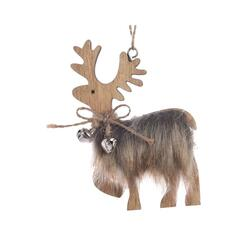Reindeer hanger with fake fur bell