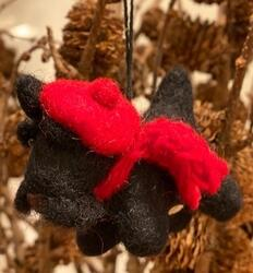 Christmas hanger Scottish terrier felt