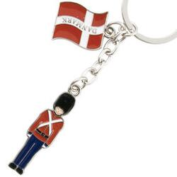 Keyring Royal Guard with danish flag
