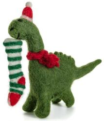 Christmas hanger Diplodocus with Stocking