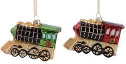 christmas hanger glass train