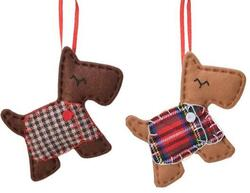 Dog terrier christmas hanger